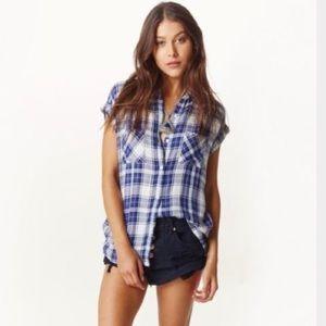 Rails Britt Short Sleeve Plaid shirt